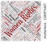 vector conceptual women rights  ... | Shutterstock .eps vector #1180971607