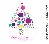 merry christmas   happy new... | Shutterstock .eps vector #118098925