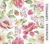 embroidery trend floral... | Shutterstock .eps vector #1180990021