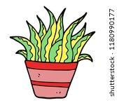 cartoon doodle plant | Shutterstock . vector #1180990177