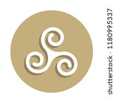 druidism triple spiral sign... | Shutterstock .eps vector #1180995337