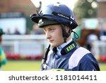 Small photo of HORSE RACING - Jockey Cieren Fallon, son of former champion jockey Kieren Fallon, makes his racing debut at Thirsk Races : Thirsk Racecourse, Nth Yorkshire, UK : 31 August 2018 : Pic Mick Atkins