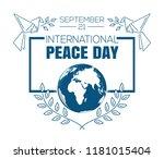 international peace day logo...   Shutterstock .eps vector #1181015404