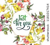 watercolor colorful bouquet of...   Shutterstock . vector #1181017414