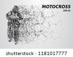 motocross of particles.... | Shutterstock .eps vector #1181017777