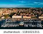 aerial view from pula marina ... | Shutterstock . vector #1181021311