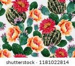 seamless vector floral summer... | Shutterstock .eps vector #1181022814
