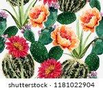 seamless vector floral summer... | Shutterstock .eps vector #1181022904