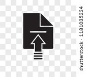 upload vector icon isolated on...   Shutterstock .eps vector #1181035234