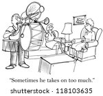 """sometimes he takes on too much"" 