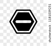 one way vector icon isolated on ... | Shutterstock .eps vector #1181039251