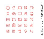office business outline icons   Shutterstock .eps vector #1181039611