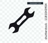 wrench vector icon isolated on... | Shutterstock .eps vector #1181043904