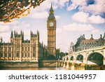 london city in fall foliage  ... | Shutterstock . vector #1181044957
