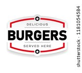 food logo burger vintage | Shutterstock .eps vector #1181054584