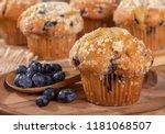 Closeup Of A Blueberry Muffin...