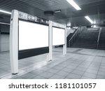 blank mock up board template... | Shutterstock . vector #1181101057