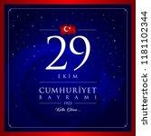 29 ekim cumhuriyet bayrami... | Shutterstock .eps vector #1181102344