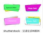 trendy banner flat design... | Shutterstock .eps vector #1181104804