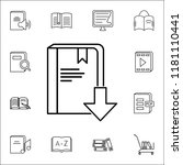 download a book icon. books and ... | Shutterstock .eps vector #1181110441