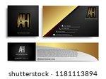 initial letter ah logotype... | Shutterstock .eps vector #1181113894