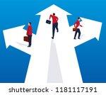 businessman choosing different... | Shutterstock .eps vector #1181117191