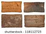 collection of various  empty... | Shutterstock . vector #118112725