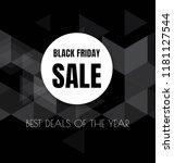 black friday sale flyer or... | Shutterstock .eps vector #1181127544