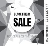 black friday sale flyer or... | Shutterstock .eps vector #1181127547