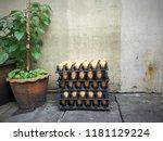 street photo view footpath in...   Shutterstock . vector #1181129224