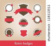 retro badges | Shutterstock .eps vector #118113511
