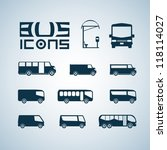 vector set of different bus | Shutterstock .eps vector #118114027