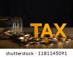 Tax Concept.word Tax Put On...