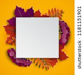 autumn floral 3d paper cut... | Shutterstock .eps vector #1181151901