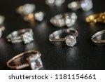 jewelry diamond rings set on... | Shutterstock . vector #1181154661