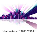 vector illustration neon... | Shutterstock .eps vector #1181167924