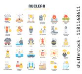 nuclear elements   thin line... | Shutterstock .eps vector #1181168611
