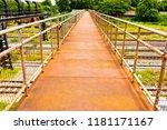 overpass  cross the railroad...   Shutterstock . vector #1181171167