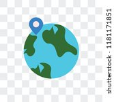 worldwide vector icon isolated... | Shutterstock .eps vector #1181171851