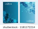minimal brochure templates ... | Shutterstock .eps vector #1181172214