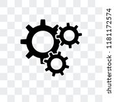 settings vector icon isolated... | Shutterstock .eps vector #1181172574