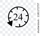 24 hours vector icon isolated... | Shutterstock .eps vector #1181172757