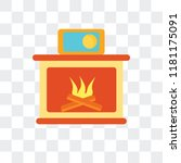 fireplace vector icon isolated... | Shutterstock .eps vector #1181175091