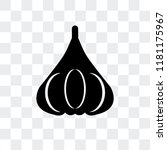 garlic vector icon isolated on...   Shutterstock .eps vector #1181175967