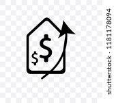 increase money vector icon... | Shutterstock .eps vector #1181178094