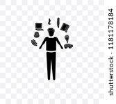 multitasking man vector icon... | Shutterstock .eps vector #1181178184