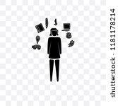 multitasking woman vector icon... | Shutterstock .eps vector #1181178214