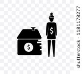 woman with mortgage vector icon ... | Shutterstock .eps vector #1181178277