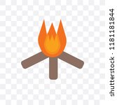 bonfire vector icon isolated on ... | Shutterstock .eps vector #1181181844