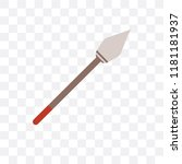 spear vector icon isolated on... | Shutterstock .eps vector #1181181937